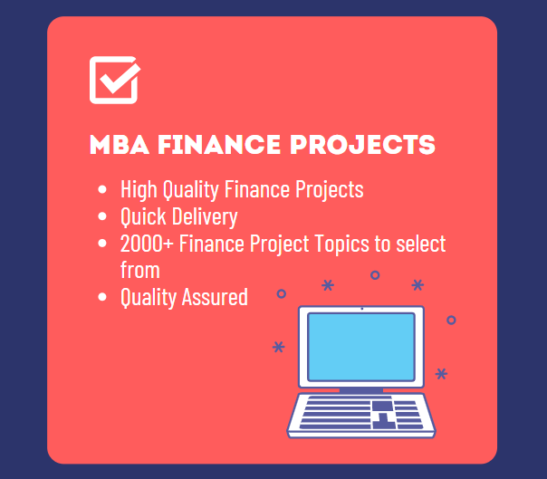 mba finance projects for final year